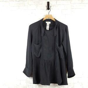 Isabel Marant long sleeve silk Blouse | Size 0